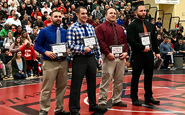 Wrestling coach, Mike Lamb receives New Jersey Wrestling Coaches Association District 18 Coach of the Year Honors!
