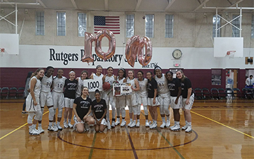 Junior Leilani Correa scored her 1000th point in the Somerset County Semi-Finals