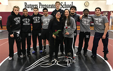 Rutgers Prep Wrestling wins on senior night 60-15
