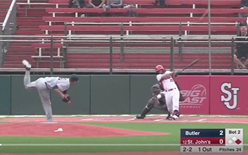 Anthony Brocato '14 hits 10th homerun of the season to lead St. John's to the regular season Big East Championship